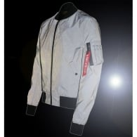 Alpha MA-1 Reflective Jacket - Charcoal