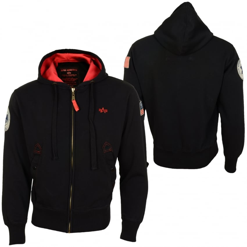 Alpha Polar Zip Hoodie - Black - Last Stock