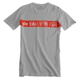 Alpha Remove Before Flight T-Shirt - Grey Heather