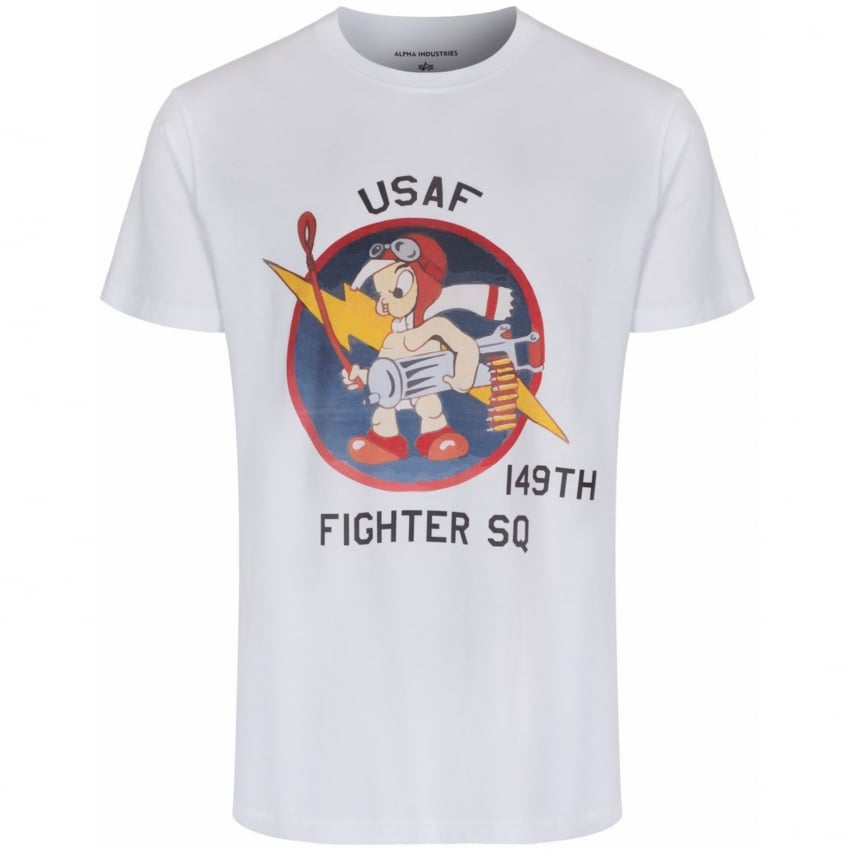 Alpha X Present T-Shirt with 149th US Fighter Squadron Print