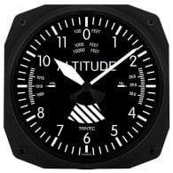 "Altimeter 10"" New Style Instrument Clock"