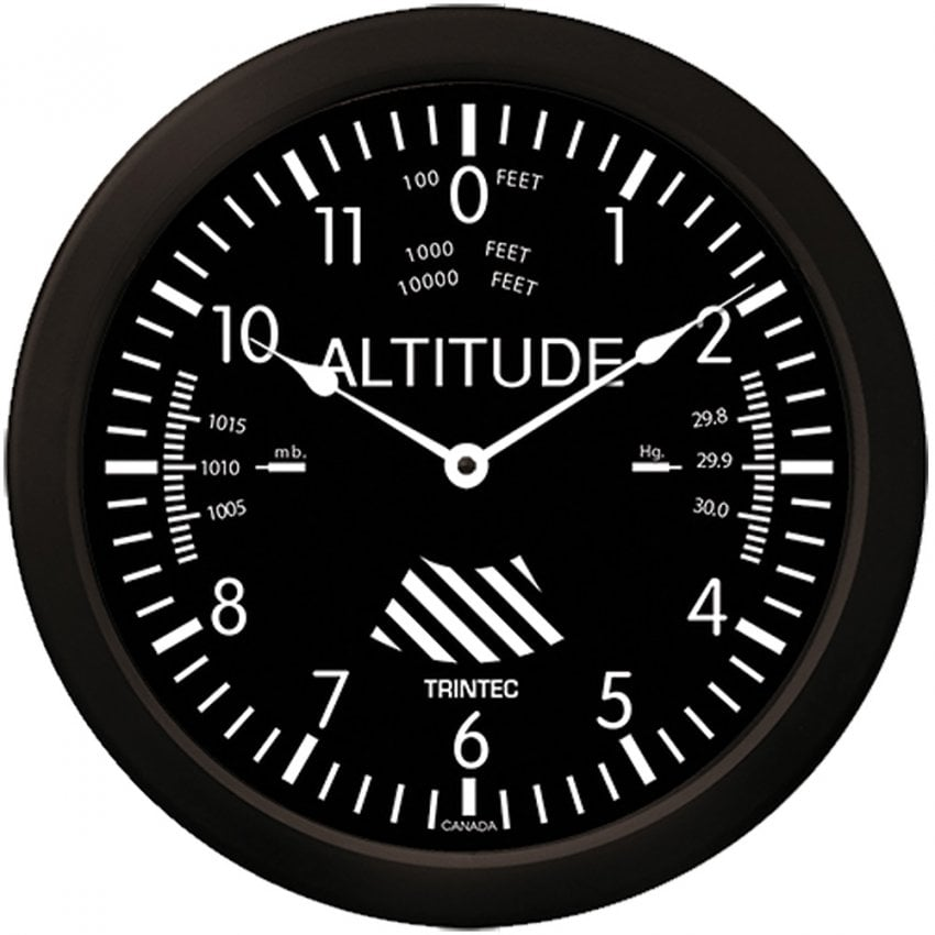 "Altimeter 10"" Wall Clock - Classic Series"