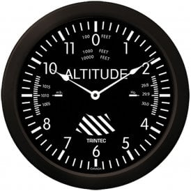 "Trintec Altimeter 10"" Wall Clock - Classic Series"