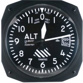 "Trintec Altimeter 10"" Wall Clock - Dispatch Series"