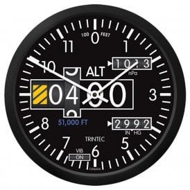 "Trintec Altimeter 14"" Wall Clock - 2060 Series"