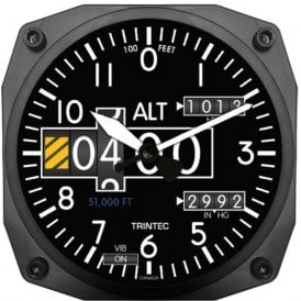 "Trintec Altimeter 6"" Wall Clock - 2060 Series"