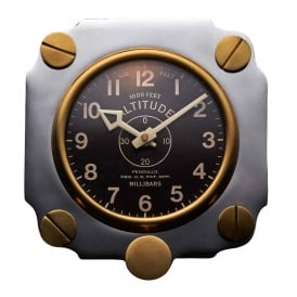 Altimeter Retro Aluminium Wall Clock
