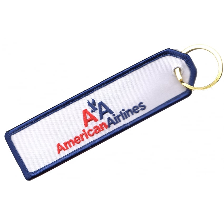 American Airlines Embroidered Keyring