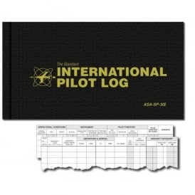 ASA International Pilot Flying Log Book