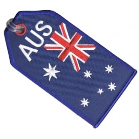 Australia Flag Embroidered Baggage Tag
