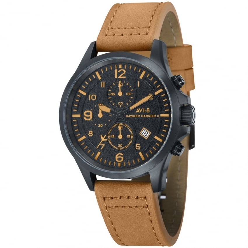 AVI-8 Hawker Harrier II Watch - Brown Leather Strap