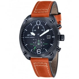 AVI-8 Hawker Harrier II Watch - Orange Leather Strap