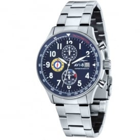 AVI-8 Hurricane Chronograph Watch - Steel Strap