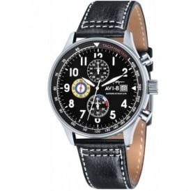 AVI-8 Hurricane Watch - Black Leather Strap