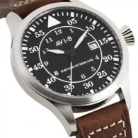 AVI-8 Hurricane Watch - Brown Leather Strap
