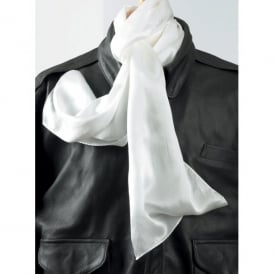 Aviators Silk White Flying Scarf