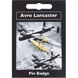 Avro Lancaster Gold Pin Badge