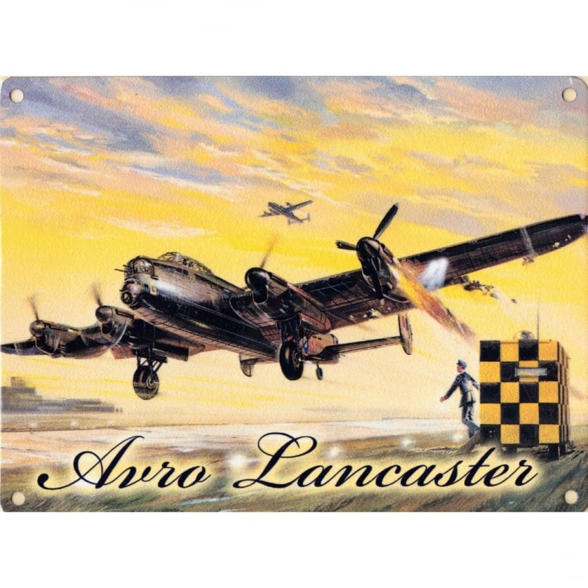 Avro Lancaster Metal Sign