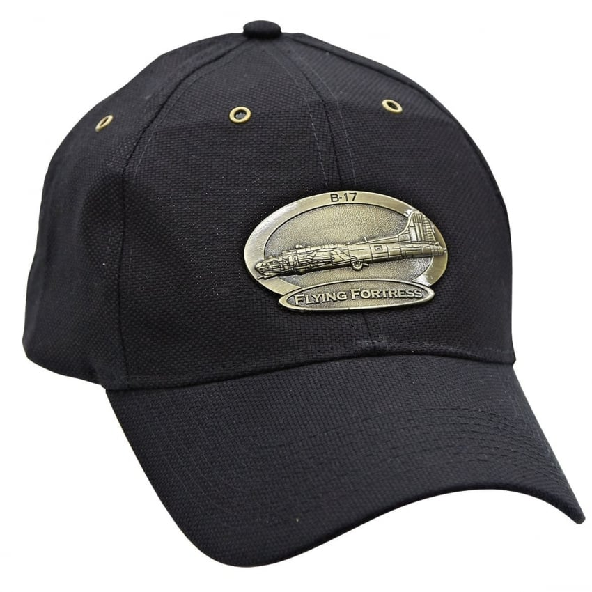 B-17 Flying Fortress Cap with Brass Emblem