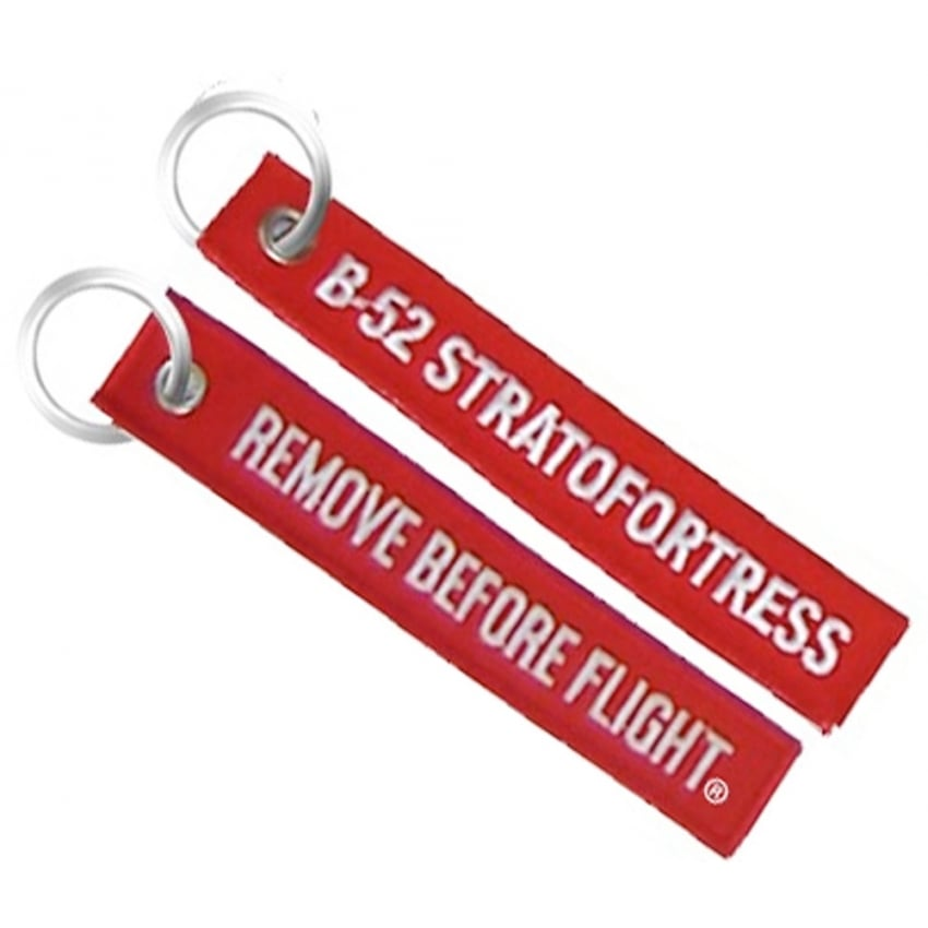 B-52 Remove Before Flight Embroidered Keyring