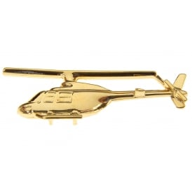 Bell 206 Helicopter Boxed Pin - Gold