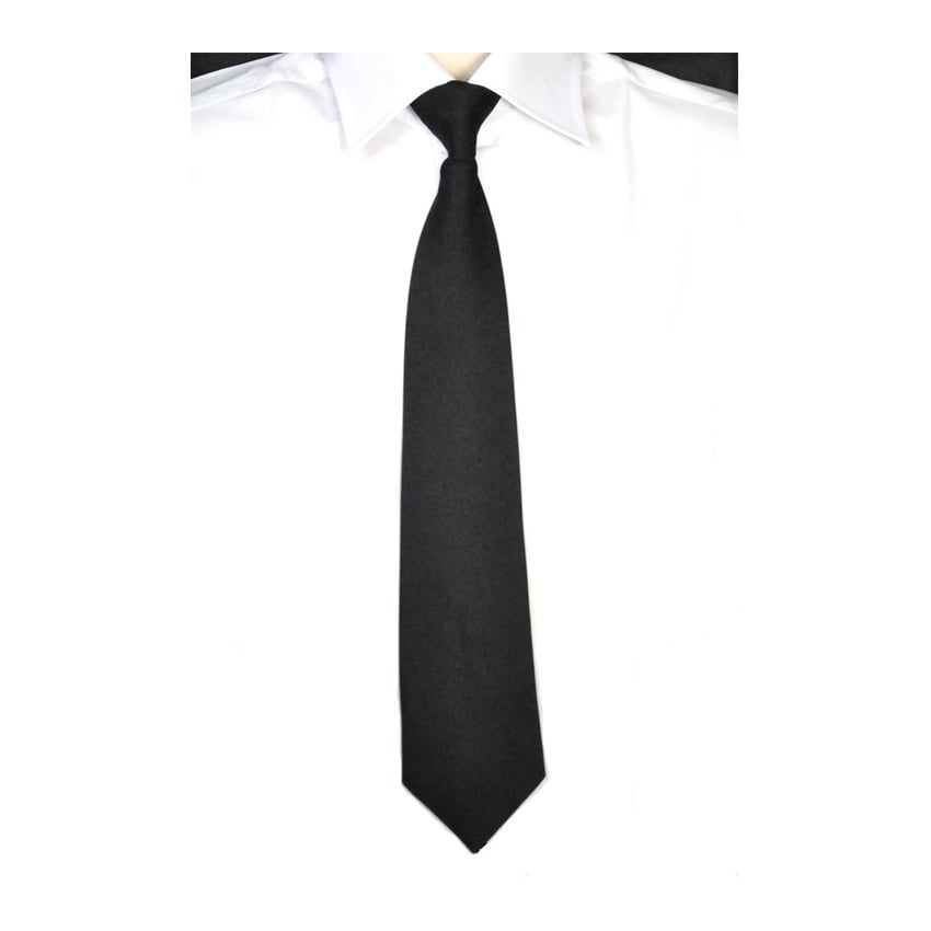 Black Clip On Tie
