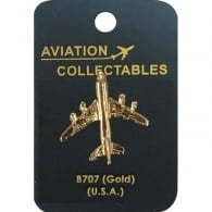 Boeing 707 Gold Pin Badge