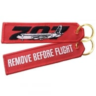 Boeing 707 RBF Embroidered Keyring