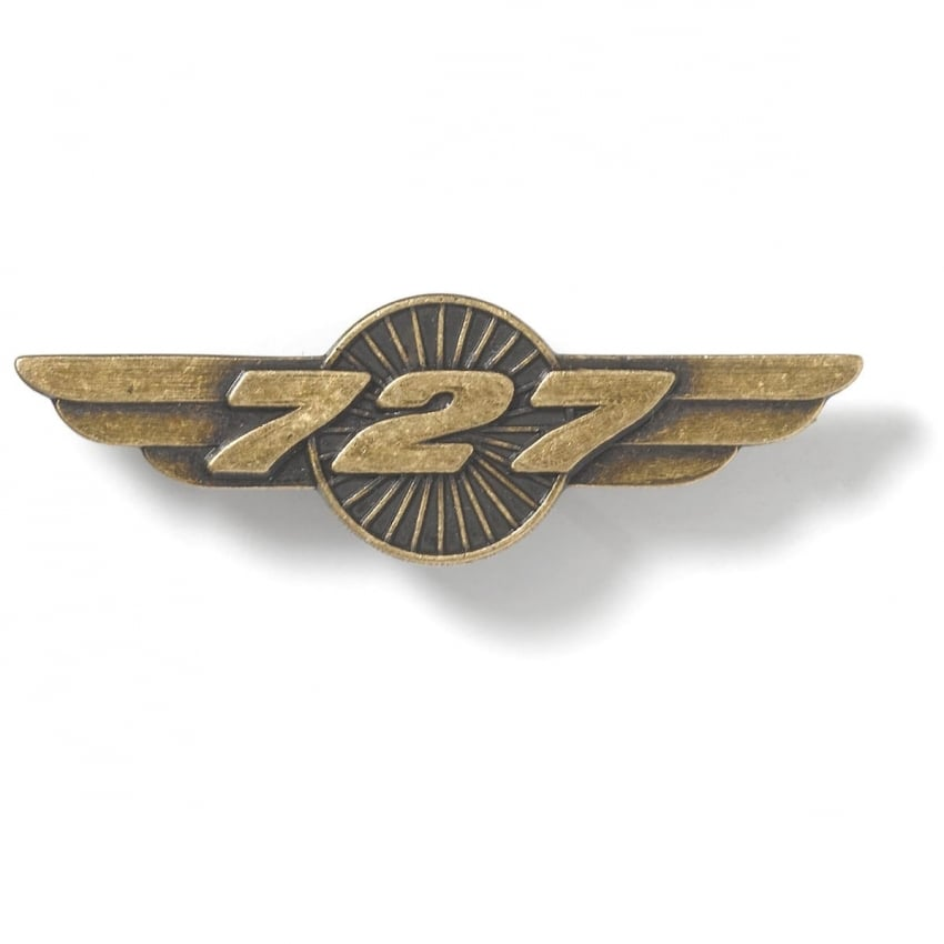 727 Wings Pin Badge