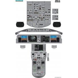 airliner cockpit training posters available at flightstore rh flightstore co uk Cockpit Boeing 737 Fuel Flow Cockpit Boeing 737 Fuel Flow