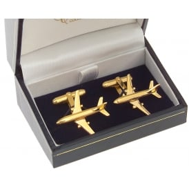 Clivedon Boeing 737 Cufflinks - Gold Plated