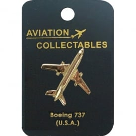 Boeing 737 Gold Pin Badge