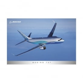 Boeing 737 In Flight New Livery Poster