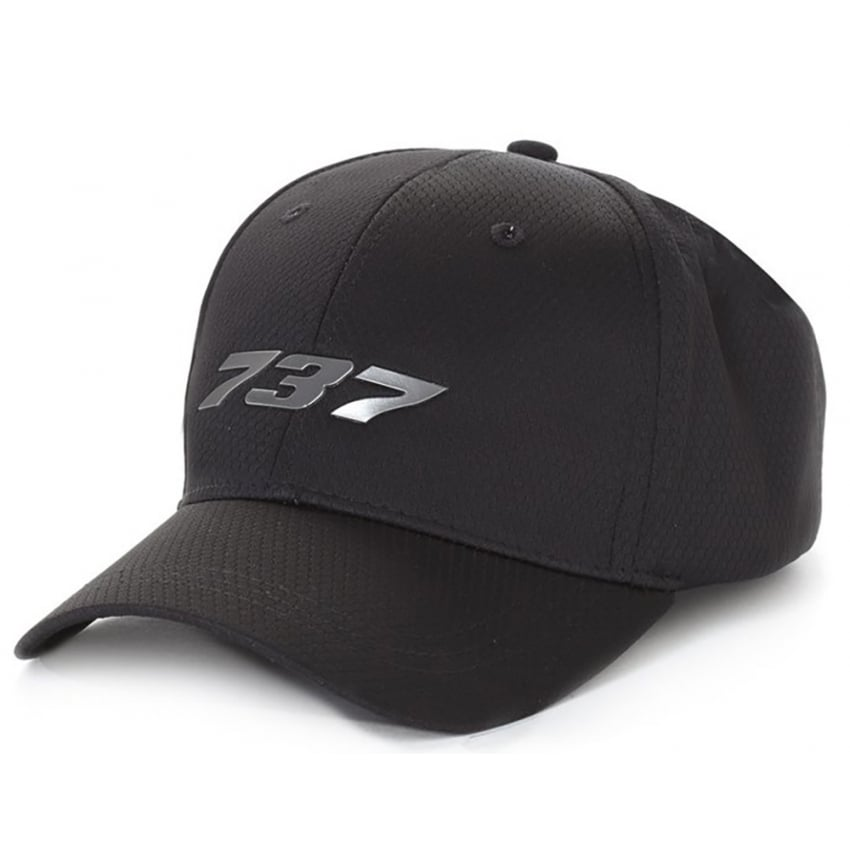 737 Midnight Silver Hat