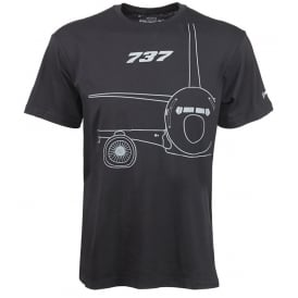 Boeing 737 Midnight Silver T-Shirt