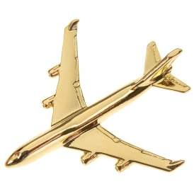Boeing 747-400 Boxed Pin - Gold