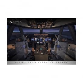 Boeing 747-8 Flight Deck Poster