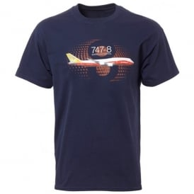 Boeing 747-8 Graphic Profile T-Shirt - Last Stock