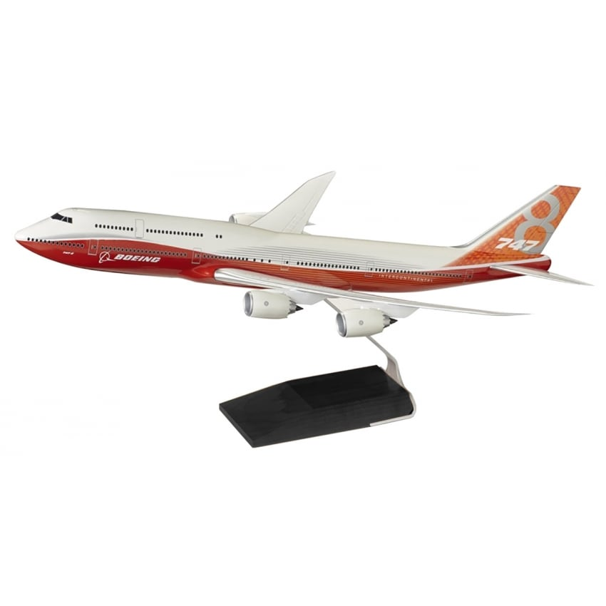 747-8 Intercontinental Sunrise Snap Model - Scale 1:144