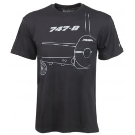 Boeing 747-8 Midnight Silver T-Shirt