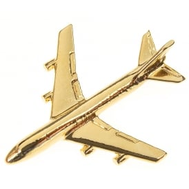 Boeing 747 Boxed Pin - Gold