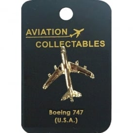 Boeing 747 Gold Pin Badge