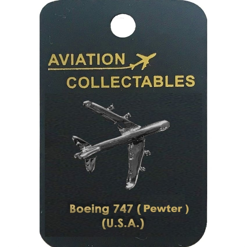 Boeing 747 Pewter Pin Badge