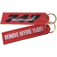 Boeing 747 RBF Embroidered Keyring