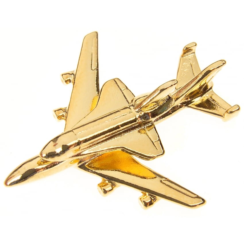 Boeing 747 Shuttle Boxed Pin - Gold