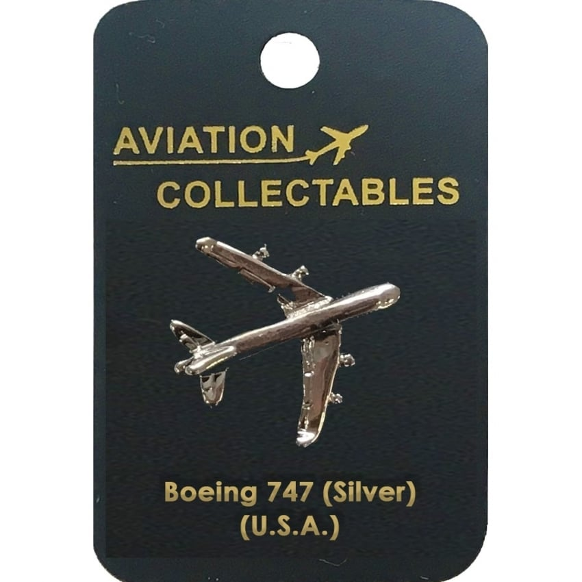 Boeing 747 Silver Pin Badge