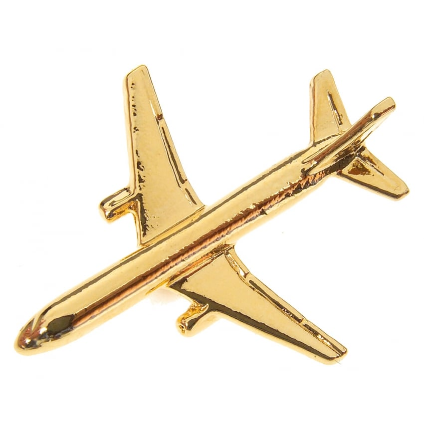 Boeing 757 Boxed Pin - Gold