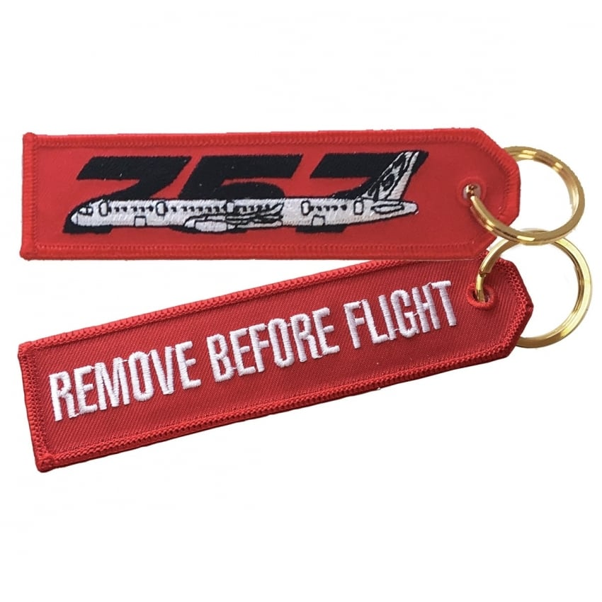 Boeing 757 RBF Embroidered Keyring