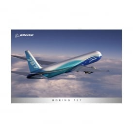 Boeing 767 In Flight New Livery Poster - Last stock