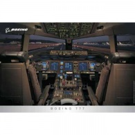 Boeing 777 Flight Deck Poster